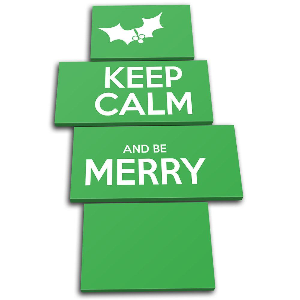Keep Calm Calm Calm verde  Christmas MULTI TELA parete arte foto stampa de2e43
