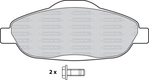 OEM SPEC FRONT AND REAR PADS FOR PEUGEOT 3008 1.6 TD 2009