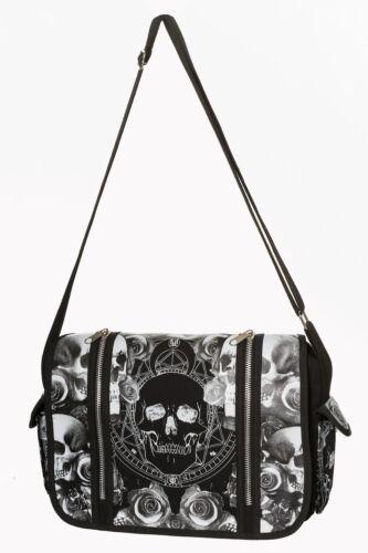 schoudertas Lost Mica Bg7147blk Gothic Skull Rose Queen Floral aarSwY