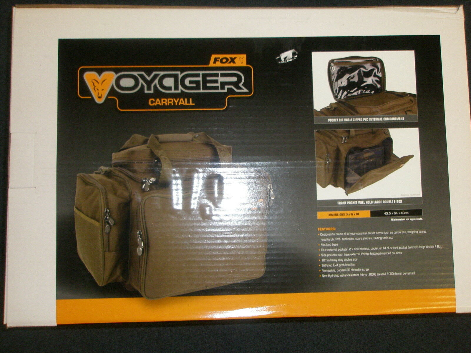 Fox Voyager Large Carryall CLU337 Carp fishing tackle