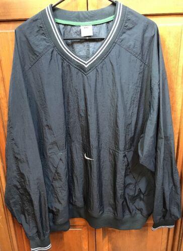 Nike V Neck Pullover Windbreaker Black White Zip P
