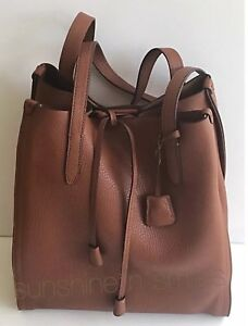 1f1ec08ad70d  198 J Crew JCREW SIGNET Italian Brown Slouchy Leather Tote Bag ...