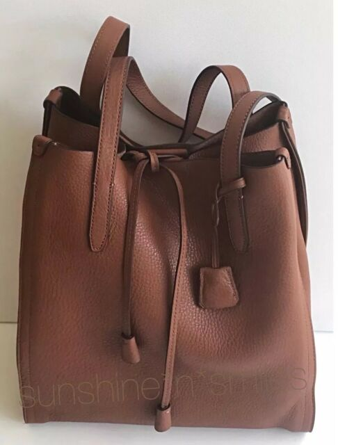 198 J Crew Jcrew Signet Italian Brown Slouchy Leather Tote Bag Roasted Chestnut