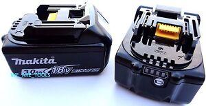 2-NEW-GENUINE-18V-BL1830B-2-Makita-Batteries-3-0-AH-Fuel-Gauge-For-Drill-Saw
