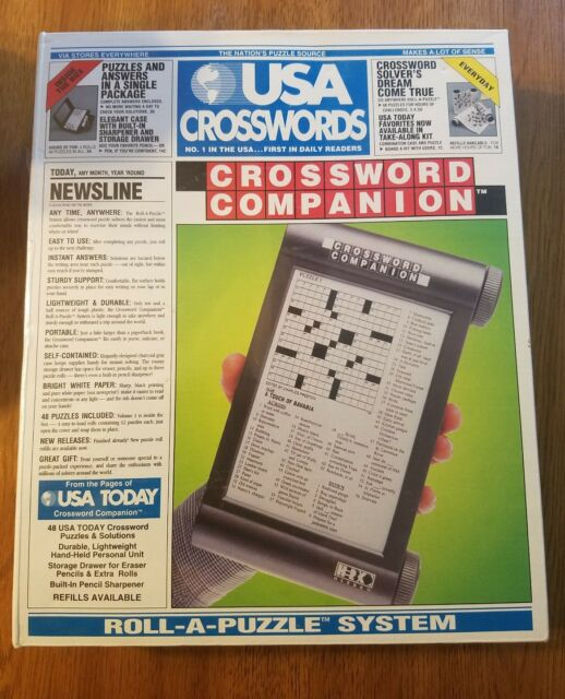 Usa Today Crossword Companion Roll A Puzzle System 48 Puzzles Travel