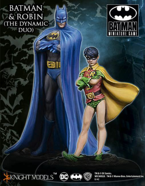 Batman and Robin (The Dynamic Duo) 35mm Batman Miniature Game Knight Models