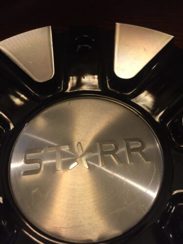 Player Wheels Silver//Black Custom Wheel Center Cap  C-947-2 Starr Effen
