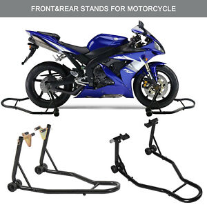 Motorcycle-Bike-Front-amp-Rear-Stand-Motorbike-Lift-Heavy-Duty-Paddock-Carrier