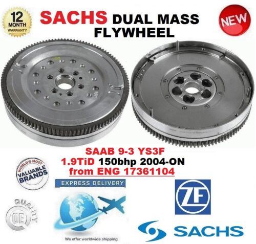 FOR SAAB 9-3 YS3F 1.9 TiD from ENG 17361104 2004-ON SACHS DMF DUAL MASS FLYWHEEL