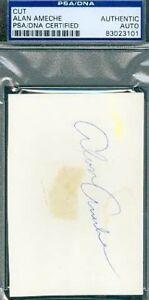 Alan Ameche Autograph Psa/dna Signed 3x5 Index Card