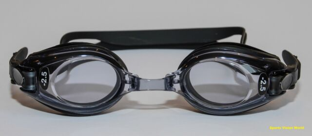 High Quality Prescription Optical Swimming Goggles Adult Black Minus Plus Powers