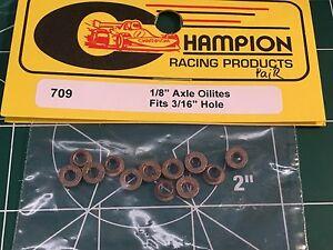 6 pair 1/8 x 3/16 Flanged Axle Oilite Bushings 1/24 slot car Mid America raceway