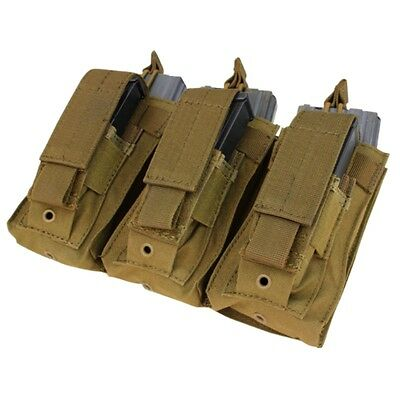 MOLLE 5.56 mm open top + Pistol Triple Kangaroo Mag Pouch BROWN (CONDOR MA55)