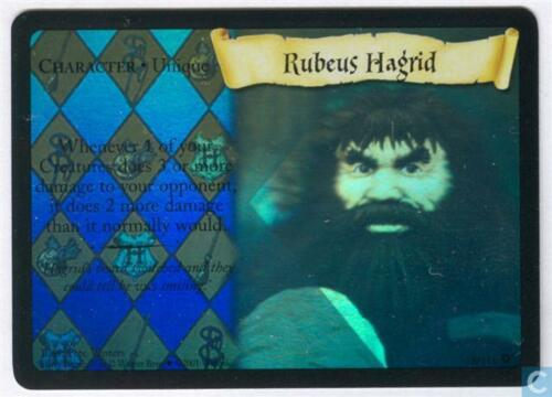 Harry Potter TCG Base Set Rubeus Hagrid HOLO FOIL 18//116