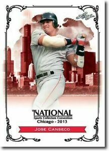JOSE-CANSECO-2013-LEAF-NATIONAL-EXCLUSIVE-COLLECTORS-PROMO-CARD