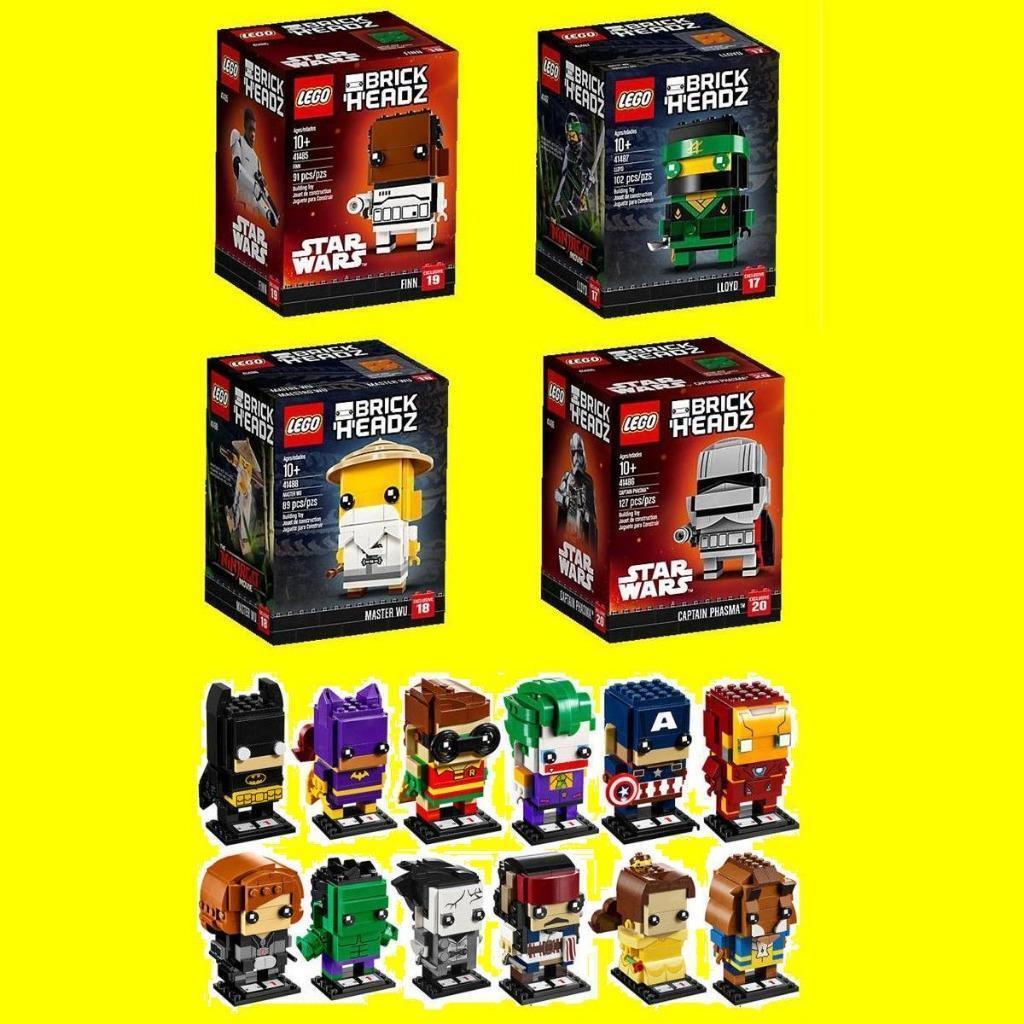 16x Lego brickheadz Finn 41485 capitán phasma 41486 Lloyd 41487 Master Wu 41488