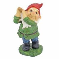 Golfing Gnome Sculpture Statue Flower Bed Porch Patio Dad Husband Golf Gift Fore
