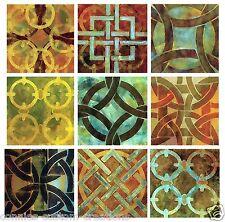 Patchwork Kitchen Bath Back Splash Ceramic Decorative Accent Tile Set of 9