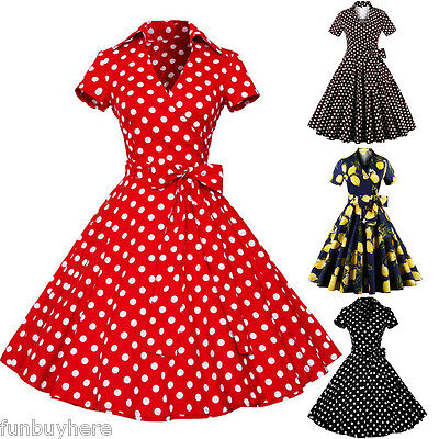 Vintage Retro Swing 50s 60s Housewife Rockabilly Pinup Evening Party Dress Sale Ebay