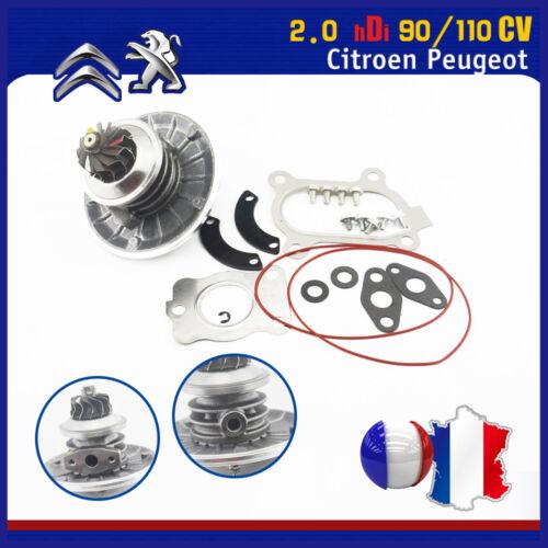 GT1546S turbo CHRA cartouche 706977-1 Citroen Peugeot 2.0 HDI 90 PS DW10TD RHY
