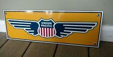 Union Pacific railroad sign gas oil gasoline 18 inches wide