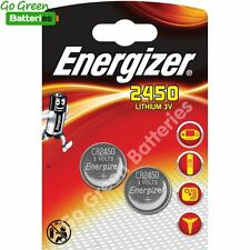 2 x Energizer CR2450 3V Lithium Coin Cell Battery 2450