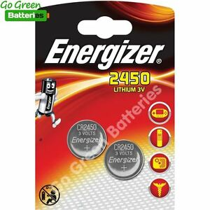 2 x Energizer CR2450 3V Lithium Coin Cell Battery 2450 7638900995268