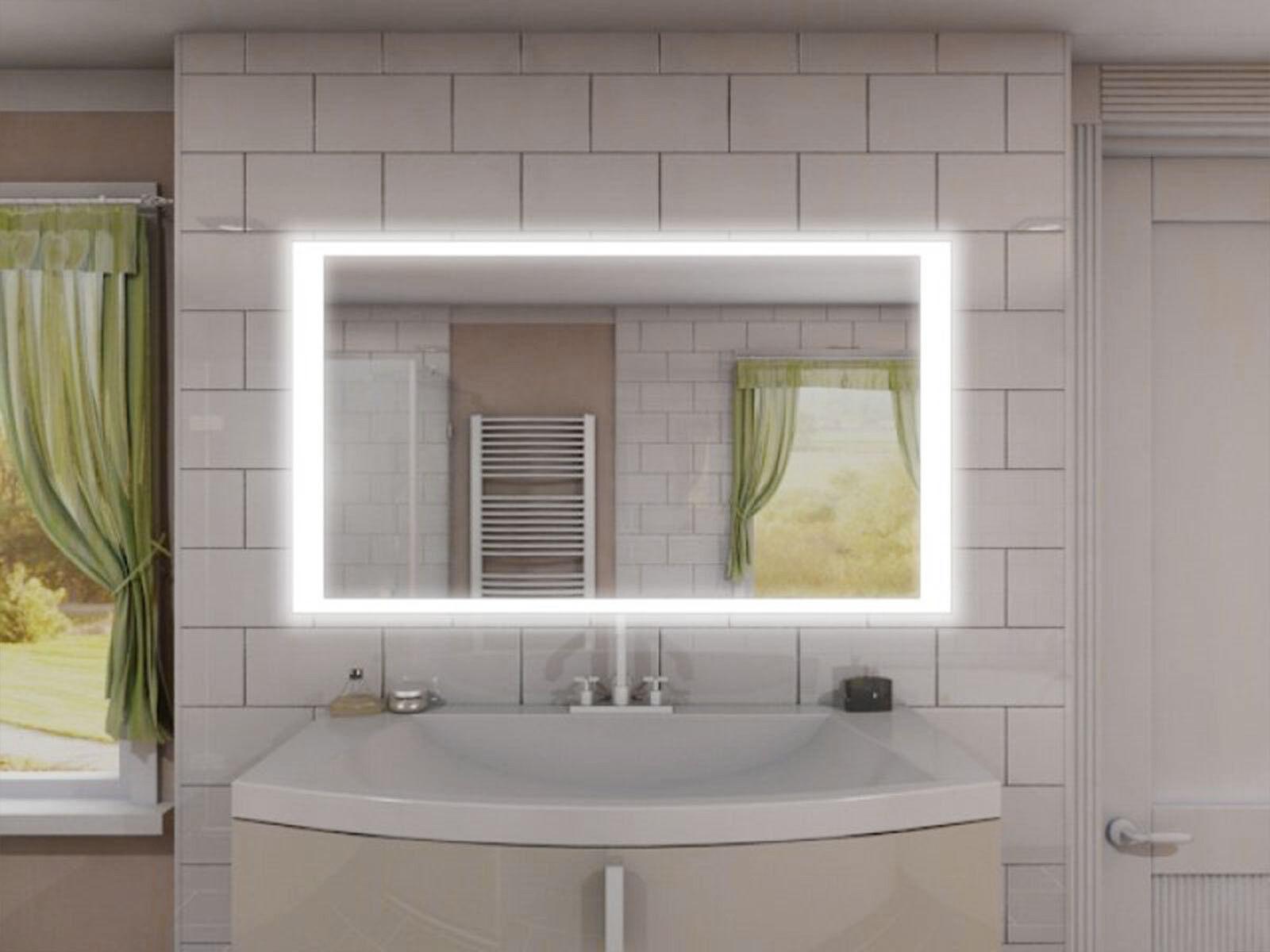 Badspiegel Badezimmerspiegel Bad Spiegel LED beleuchtet rundherum ■■■ MNJ1L4