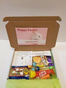 Pasqua cesto regalo per bambini CASSETTA delle lettere personalizzato Collana di cioccolato