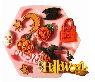 9-fach Silikon Ausstechform Backform Fondant Tortendeko Form Halloween Hexe
