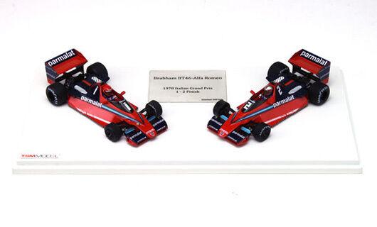 True SCALE 124305 Alfa Brabham BT46 F1 Set LAUDA & Watson ITALIAN GP 1978 1:43rd