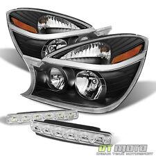 Blk 2002-2007 Buick Rendezvous Headlights Headlamps Replacement+SMD Bumper Fog