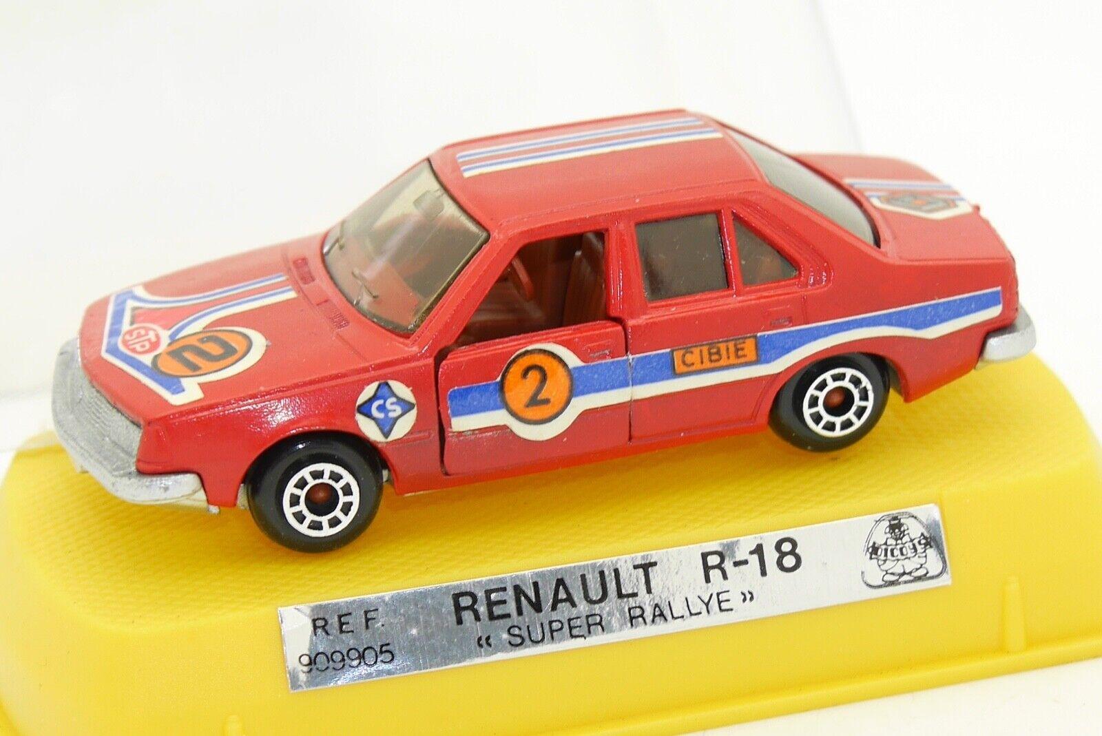 DICOYS 1 64 RENAULT R 18 SUPER RALLYE AVEC SA BOITE MIRA GUISVAL