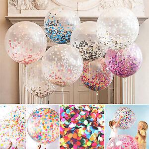 5 stk 12 inch geburtstags hochzeits dekor helium ballons konfetti luftballons ebay. Black Bedroom Furniture Sets. Home Design Ideas