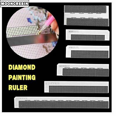 Diamond Painting Ruler Round Drilling Dots Stainless Steel Crafts Accessories