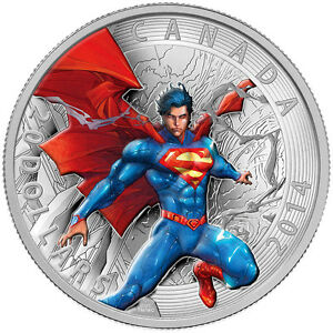 SUPERMAN-20-SILVER-2014-COIN-MINT-CONDITION-SUPERMAN-STAMPS