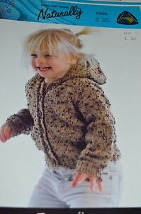 8594421fcb1f Image is loading Naturally-Knitting-Pattern-K600-Hooded-Jacket-22-28-