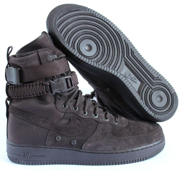 a23a8876d2 NIKE SF AF1 AIR FORCE 1 HIGH URBAN UTILITY VELVET BROWN BOOT 864024 203 SZ  12