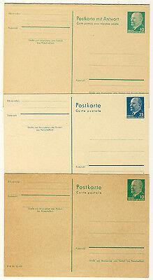 Ddr - Ganzsachen P75, P76, P77 - W. Ulbricht Ungebraucht (9155/497)