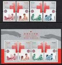 HONG KONG MNH 2000 Red Cross Stamps and Minisheet