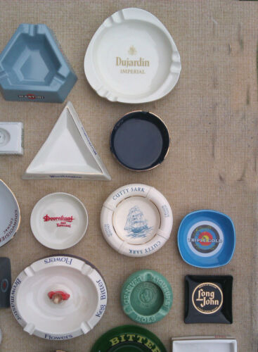 COLLECTION OF ADVERTISING ASHTRAYS