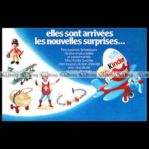 KINDER-SURPRISE-Chocolat-Ferrero-1977-Pub-Publicite-Advert-Ad-B535