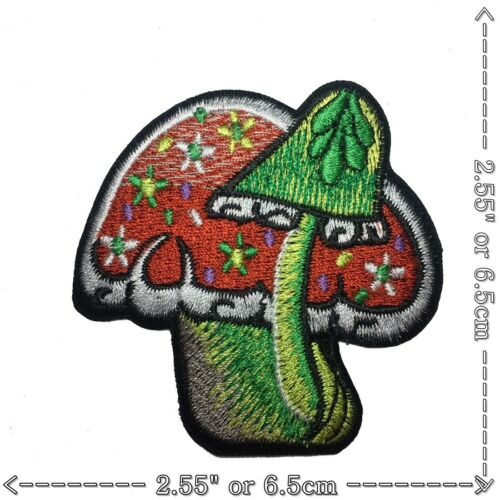 Om Aum Magic Mushroom Universe Gypsy Boho Hippie Sew Iron on Embroidered Patch