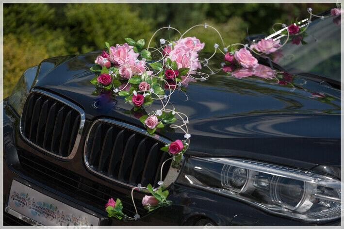 NIKA  wedding artificials flower car decoration ribbon bows prom limo wesele