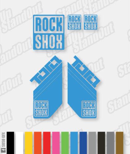 Rockshox Stickers autocollants Tora 12 couleurs personnalisées disponibles