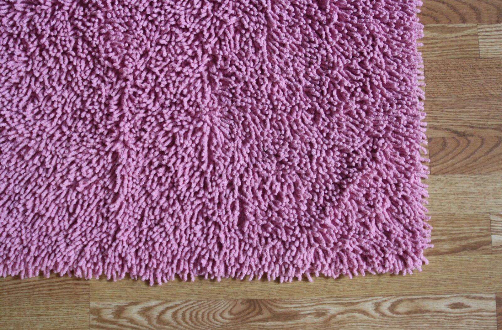 5'x8' Rose Clair Super Coton Doux chennile Noodle Shag Rug