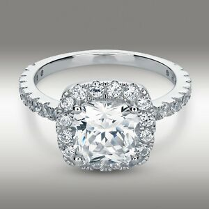 3-20-Carat-Cushion-Cut-Halo-Engagement-Ring-Lab-Diamond-Solid-14K-White-Gold