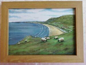 Rhossili Bay Gower, Swansea - Watercolour Painting - Tony Paultyn