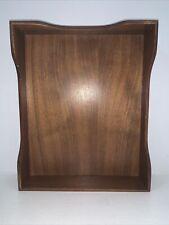 Vtg Maple Wood Paper Tray Office Desk Organization Letter File Holder 12 14x10