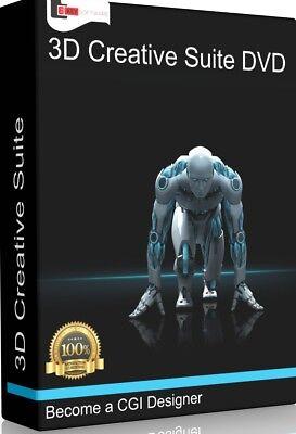 Professional 3D Creative Suite PC Software Program  CGI Animate Model  Render 742880890981   eBay